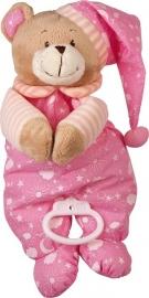Muziekdoos beer roze Nele