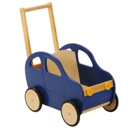 Houten loopwagen Auto blauw, Playwood