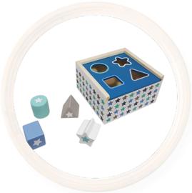 Vormenstoof - Blokkendoos - blauw