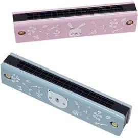Kinder mondharmonica blauw of roze, Playwood