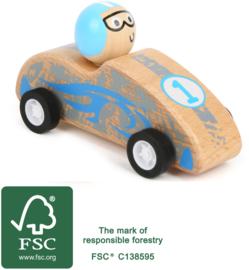 Houten pull-back race auto, FSC® , Small Foot