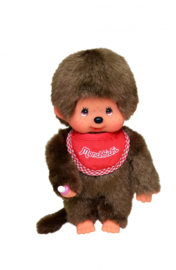 Monchhichi jongen met rode slab (20 cm)