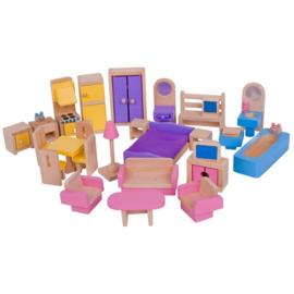 Houten Poppenhuis meubeltjes, BigJigs
