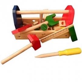 Houten kinder gereedschapbak klein, Playwood