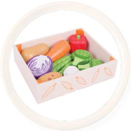 Houten krat met groente, BigJigs