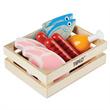 Houten speelgoed Vis en vlees in kistje, Tidlo