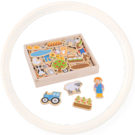 Houten speelgoed magneten - diverse thema's