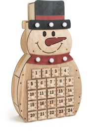 Adventskalender Houten Sneeuwman, Small Foot