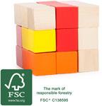 Houten FSC® kubus puzzel, Small Foot