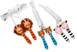 Springtouw touw met houten dieren-per set of per 3, Small Foot