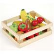 Houtn Speelgoed fruit in kistje, Tidlo