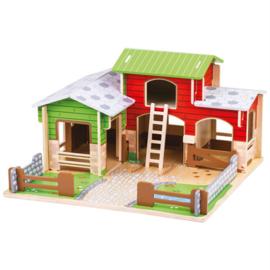 Cobblestone houten speelgoed Boerderij