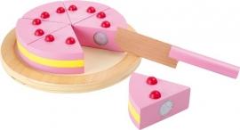 Houten speelgoed Snij taart met klittenband