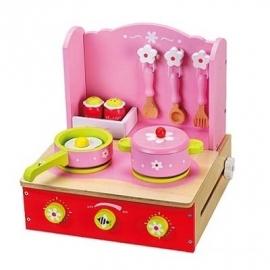 Roze keukentje inklapbaar / Tweede Keus