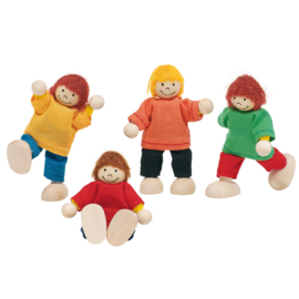 Poppenhuis poppetjes kinderen, Goki