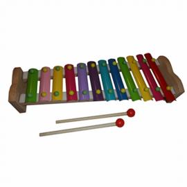 Xylofoon met 12 gekleurde tonen