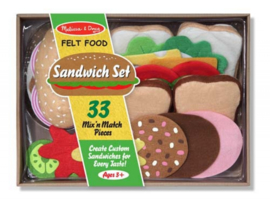 Melissa & Doug Vilten sandwichset