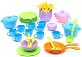 61 delige eco kunststof kinder servies, Green Toys
