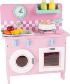 Houten kinder keuken roze Retro, Rosali