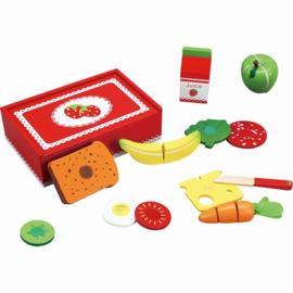Houten snijset lunchbox Aardbei, Playwood