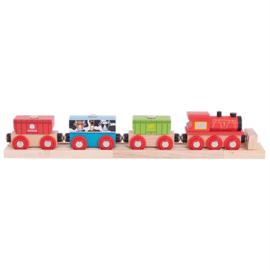 Houten trein met wagons, Graantrein, BigJigs