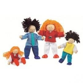 Goki poppenhuis poppetjes familie