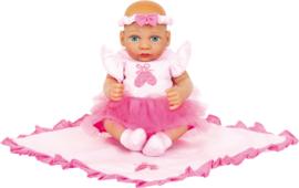Kleine pop Lola ballerina met dekentje, 26 cm