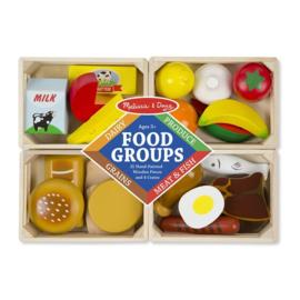 Houten voedsel in kist, Melissa en Doug