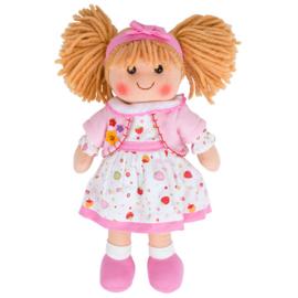 Stoffen pop Kelly, roze 34 cm, Bigjigs