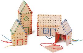Huizen bouwen met draad en hout