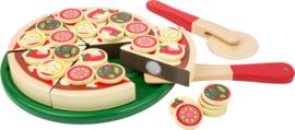 Houten speelgoed snij pizza, Small Foot