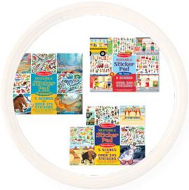 Melissa & Doug groot stickerboek met herbruikbare stickers. Diverse soorten