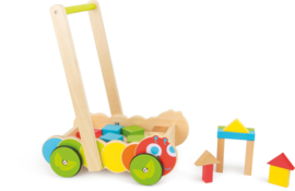 Houten babywalker - loopwagen Rupsjenooitgenoeg, Small Foot