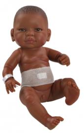 Bebitos babypop jongen of meisje - donkere huid - navelbandje, Paola Reina