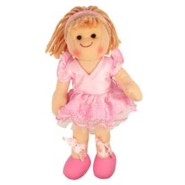 Stoffen pop Lilly, ballerina, prinsesje, Bigjigs