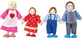 Poppenhuis poppetjes Familie, 4 stuks, Small Foot