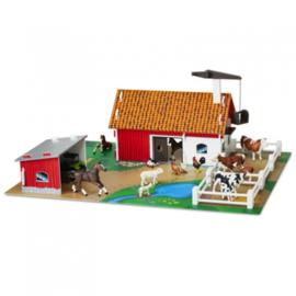 Micki, Houten boerderij met speelfiguren
