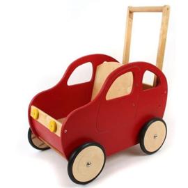 Duwwagen auto rood; met of zonder eigen naam en/of stripings