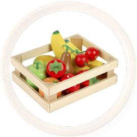Tidlo, Houten fruit in kistje
