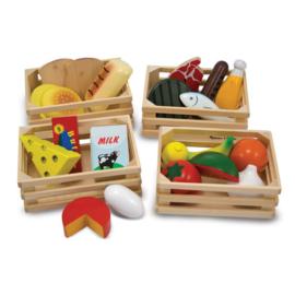 Melissa & Doug Houten voedsel in kist