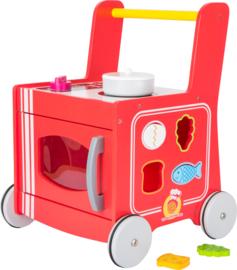 Babywalker keuken rood, niet 2 in 1 maar 3 in 1!
