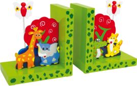 Houten boekensteunen voor kinderen - Wilde dieren , Small Foot