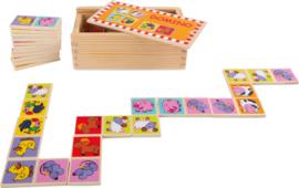 """Houten domino """"dierentuin dieren"""", Small Foot"""