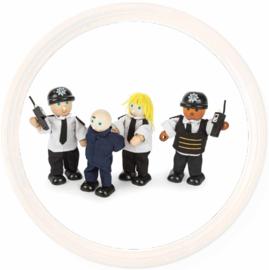 Tidlo, Politie buigpoppetjes en 1 boef