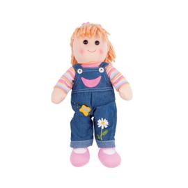 Stoffen pop Penny, blond haar, Bigjigs