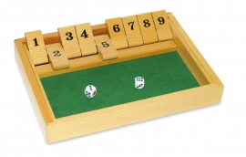 Houten spel Shut the box