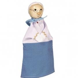 Poppenkast handpop Grootmoeder