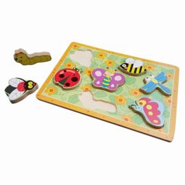 Houten puzzel met dikke stukken Insect, Playwood