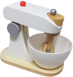 Houten speelgoed mixer wit/grijs, Playwood