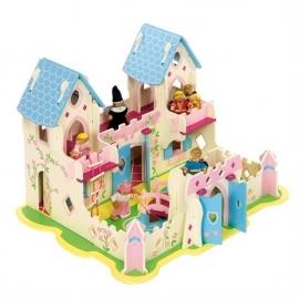 Groot poppenhuis kasteel, paleis Prinses, Bigjigs